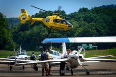 Helikopterstart zu einem Rettungseinsatz