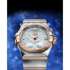 Omega CONSTELLATION CHRONOMETER 35 MM Steel-red gold on Steel-red gold ref: 123.20.35.20.52.001