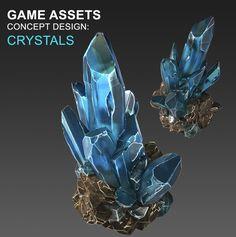 Crystals_Concept Art, Olesia Goiko on ArtStation at https://www.artstation.com/artwork/GLkN1