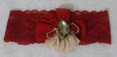 Wedding Garter,Red Lace Bridal Garter,Wedding Accessory,Bridal Lingerie,Wedding Lingerie