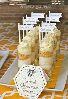 bloom designs: Make It Monday- No Bake Caramel Cheescake Stingers