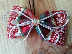 ribbon hair bow ponytail holder 145L