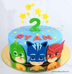 Pj Masks Birthday Cake, Paw Patrol Birthday Cake, 4th Birthday Cakes, Baby Boy Birthday, Boy Birthday Parties, Pj Mask Cupcakes, Pj Masks Cakes, Torta Pj Mask, Pjmask Party