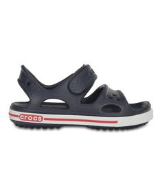 Loving this Navy & White Crocband™ II Sandal on #zulily! #zulilyfinds