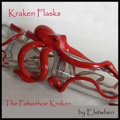 The Pahoehoe Kraken, Octopus Sculpture by Elstwhen. $240.00, via Etsy.