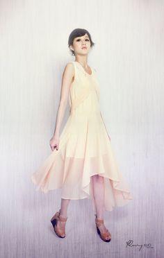 Handmade Maxi Sheer Cocktail Dress