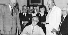 President Roosevelt signs Social Security Act on Aug. On August President Franklin Delano Roosevelt signed the Social Security Act, the foundation upon which the nation's . Today In History, Us History, Women In History, American History, American Presidents, History Class, American Life, Franklin Roosevelt, Federal