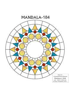 MANDALA-184 Stained glass pattern, Mosaic pattern, Painting glass pattern, to DOWNLOAD PDF, Suncatcher, Window panel, Window handing ויטראז by VitrageMosaicDesign on Etsy
