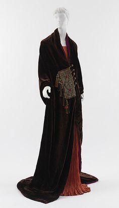 1919 Paul Poiret velvet opera coat.