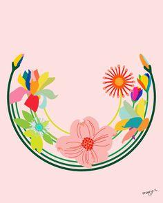 aplaceforart:  flower art- kala, by pragya k  (I can hardly wait until her etsy shop is back up and running!)