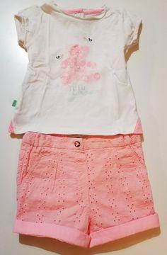 Ensemble short et tee-shirt Lulu Castagnette neufs 37b789628c5