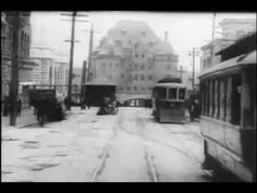 Vancouver 1907 Early footage of Vancouver, B. (Canada) shot by U. filmmaker William Harbeck -- who perished at the age of 44 filming the Titanic's maiden voyage just under 5 years later. Seymour, Vancouver City, Canadian History, Old Video, Historical Pictures, History Facts, Back In The Day, British Columbia, 5 Years