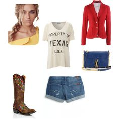 Upscale cowgirl, created by aleach3 on Polyvore
