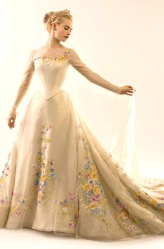 Lily James as Cinderella - Costumes by Sandy Powell