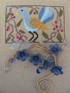 Birds of a Funky Feather #2 - Cross Stitch Pattern  By The Bay