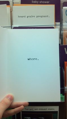 I found this in Target back around Christmas time, while looking for cards to go with gifts. - Imgur