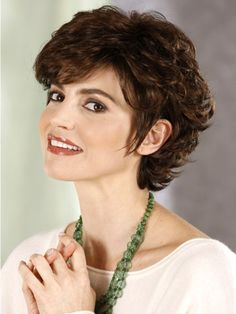 Short hairstyle with curls for women over 40