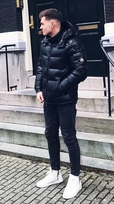 46 Cool Winter Jacket Outfits for Men Stylish Men, Men Casual, Cool Winter, Mens Down Jacket, Winter Outfits Men, Swagg, Menswear, Jackets, Skinny Jeans