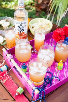 Suns Out Rums Out - El Frio Grandes made with Captain Morgan rum are the essential recipe for your next backyard bash!