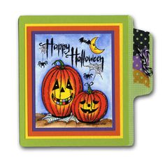 Northwoods Happy Halloween Stamped Jack-o-Lanterns Card