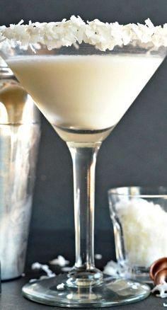 Coconut Cream Martini ~ a delicious and easy cocktail to make!