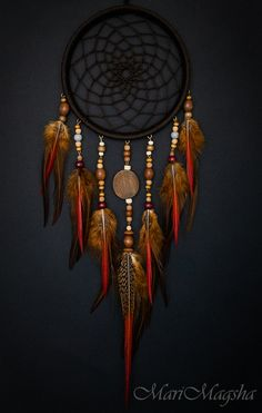 "Hunters handmade dreams.  Dream Catcher ""Huron warrior.""  MariMagsha (Maria).  Online Store Fair Masters."