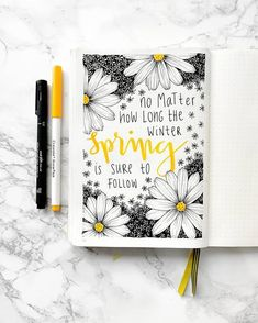 Quote with handlettering in bullet journal, cover page #bulletjournal
