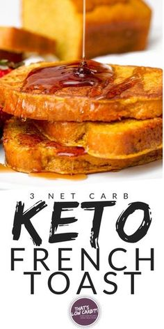 Low Carb Keto French Toast is the breakfast delight you've been searching for, without all the guilt and trimmed down on the carbs. Take our low-carb bread and make it magically delicious. Smother in low-carb syrup.