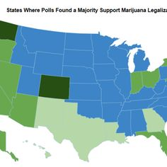 One Map Shows Every State Where a Majority Support Marijuana Legalization