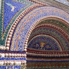Gorgeous tile work at Getty Villa in Malibu, CA