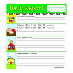 DAILY REPORT NOTEPADS GR PK-2