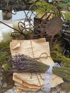 vintage wedding reception table decorations ~ Lavender