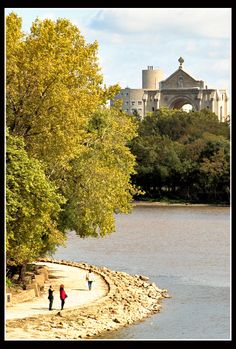 River walkway near The Forks, with St. Boniface Cathedral in the background, Winnipeg O Canada, Canada Travel, Western Canada, River Walk, Red River, Adventure Is Out There, Countries Of The World, Ottawa, Solo Travel