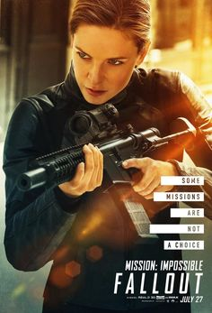 United International Pictures and Columbia Pictures Philippines has released a set of new Mission Impossible - Fallout character posters featuring Tom Cruise as Ethan Hunt once more. Rebecca Ferguson, Fallout Quotes, Fallout Movie, Mission Impossible Fallout, Ethan Hunt, Tom Cruise, Ilsa Faust, Hd Movies Online, Wonder Woman