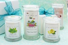Kringle Candles.  Realistic fragrances in reusable apothecary jars. Large jar burn time 95 hours. Medium jar burn time 50 hours. Daylight votive burn time 12 hours. 10 delightful fragrances. Christmas Fresh Mint Gardenia Lemon Rind Pepperment Kiss Snow Day Snow-Capped Fraser Splash Under The Sea Welcome Home    All fragrances are available in all sizes of candle.
