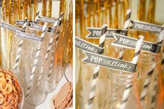 Raise your glass to this golden New Year's party! See more party ideas at CatchMyParty.com!