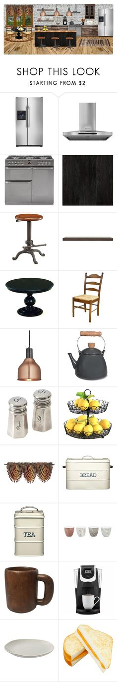 """""""Good Bones"""" by elizabeth-pride ❤ liked on Polyvore featuring interior, interiors, interior design, home, home decor, interior decorating, WALL, Frigidaire, KitchenAid and DutchCrafters"""