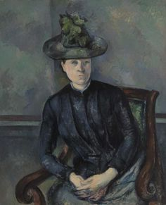 Paul Cézanne - Madame Cézanne with Green Hat (Madame Cézanne au chapeau vert).  The Barnes Foundation.
