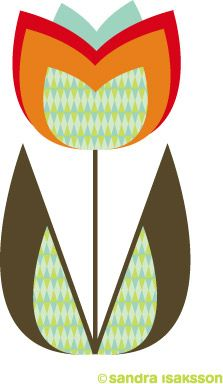 sandra isaksson: Tulip for you Portfolio Kindergarten, Graphic Illustration, Graphic Art, Scrapbook Embellishments, Diy Arts And Crafts, Simple Art, Textile Prints, Machine Quilting, Art Techniques