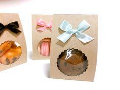 10 kraft cinta embalaje regalos regalo de cookie macarrón