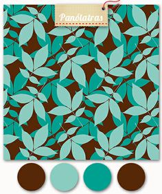 Folhas Turquesa Chocolate - Panólatras