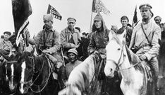 Red army soldiers of the first cavalry army, commanded by semyon budyonny at a rally in russia, civil war. Revolution, North Asia, Army Soldier, Red Army, Russia, 1920, Style, Warsaw, Polish