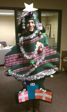 Mr. Christmas Tree. Ugly sweaters have nothing on this guy!