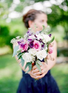 lovely bits of purple in this wild bouquet