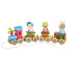 Peter Rabbit: Peter Rabbit Wooden Puzzle Train