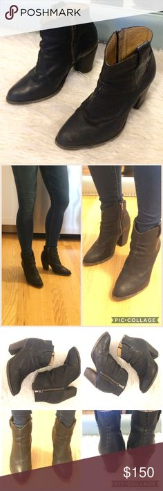 Frye black booties, size 6 Frye black cowboy style booties. Worn but still in great condition. Super cute w skinny jeans, leggings or a skirt. size 6 Frye Shoes Ankle Boots & Booties