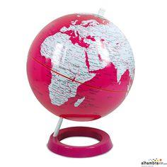 Bola del mundo rosa