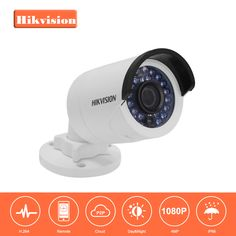 HIKVISION CCTV IP Camera DS-2CD2042WD-I 4MP Bullet Security IP Camera with POE Network camera Security Cameras Surveillance. Yesterday's price: US $112.50 (92.88 EUR). Today's price: US $76.50 (62.28 EUR). Discount: 32%.