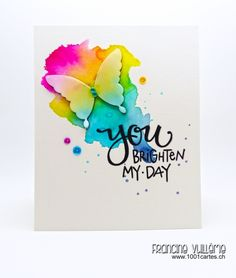Your brighten my day by #Francine - Cards and Paper Crafts at Splitcoaststampers