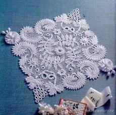 Crochet puntada: encaje irlandés en Pinterest
